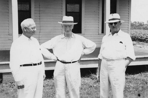 William Beveridge (centre) Deep South, USA, 1943
