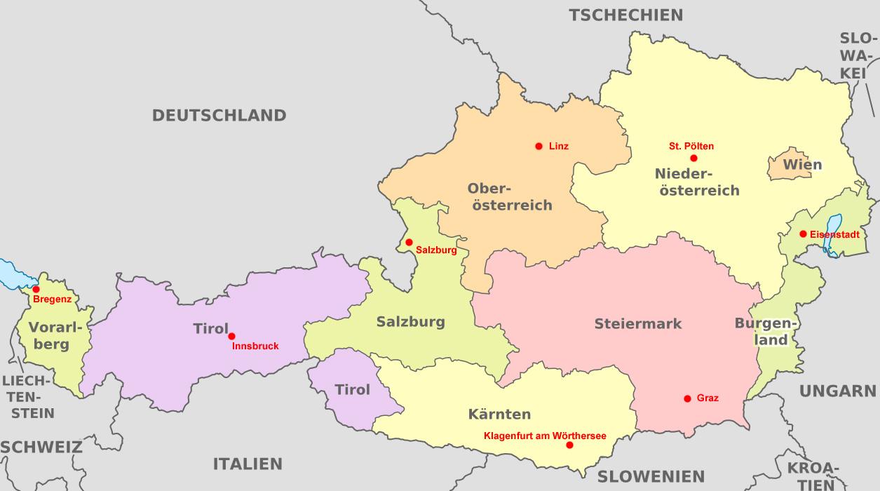 Bundesländer Hauptstädte Karte.File österreich Bundesländer Hauptstädte Jpg Wikimedia Commons