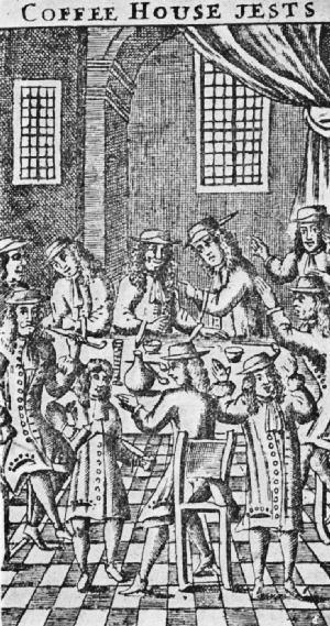 English: A wood cut of a seventeenth century E...