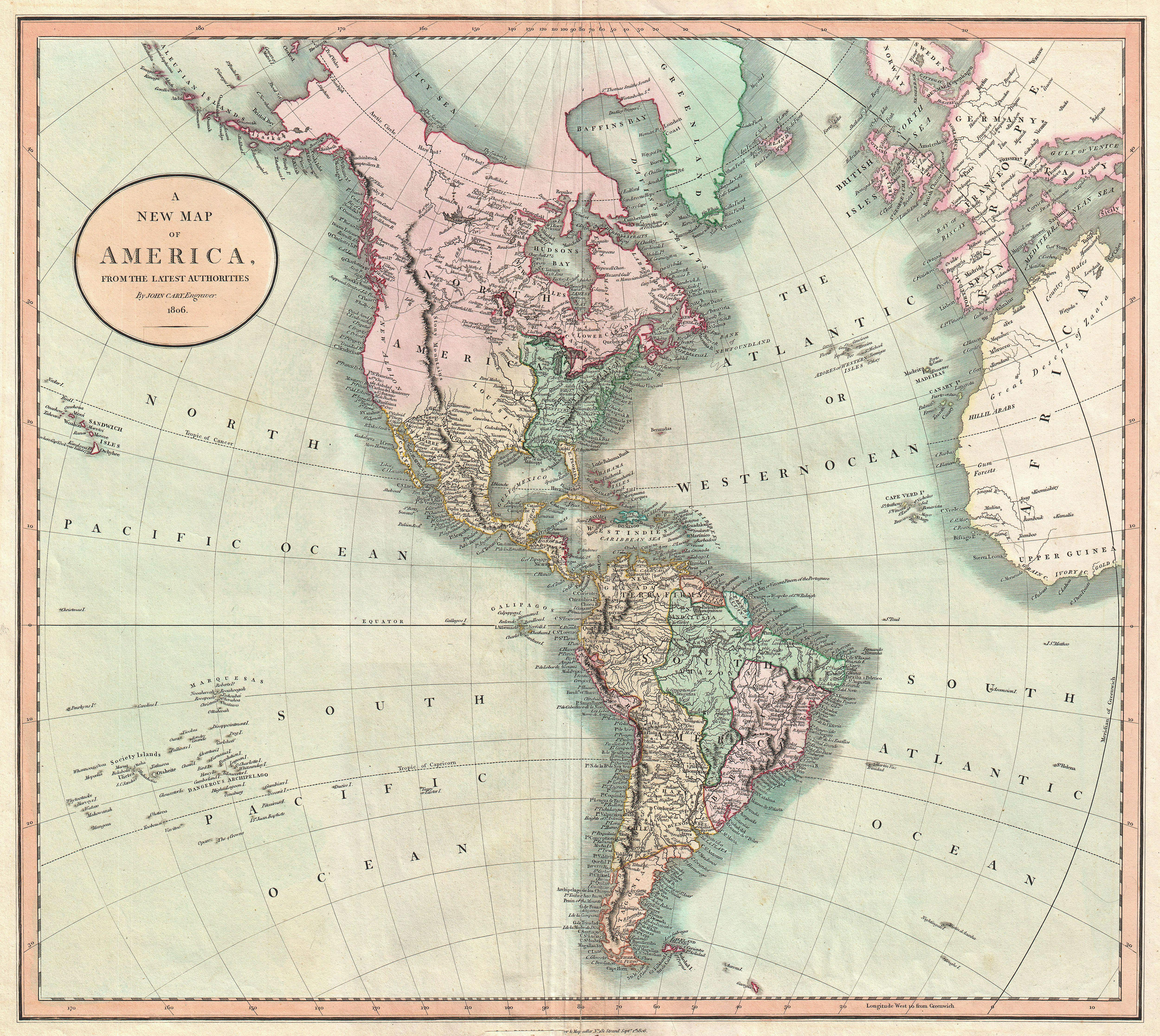 File1806 cary map of the western hemisphere north america and file1806 cary map of the western hemisphere north america and south america gumiabroncs Gallery