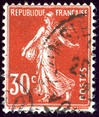 1922 Rouge France 30c Yv160