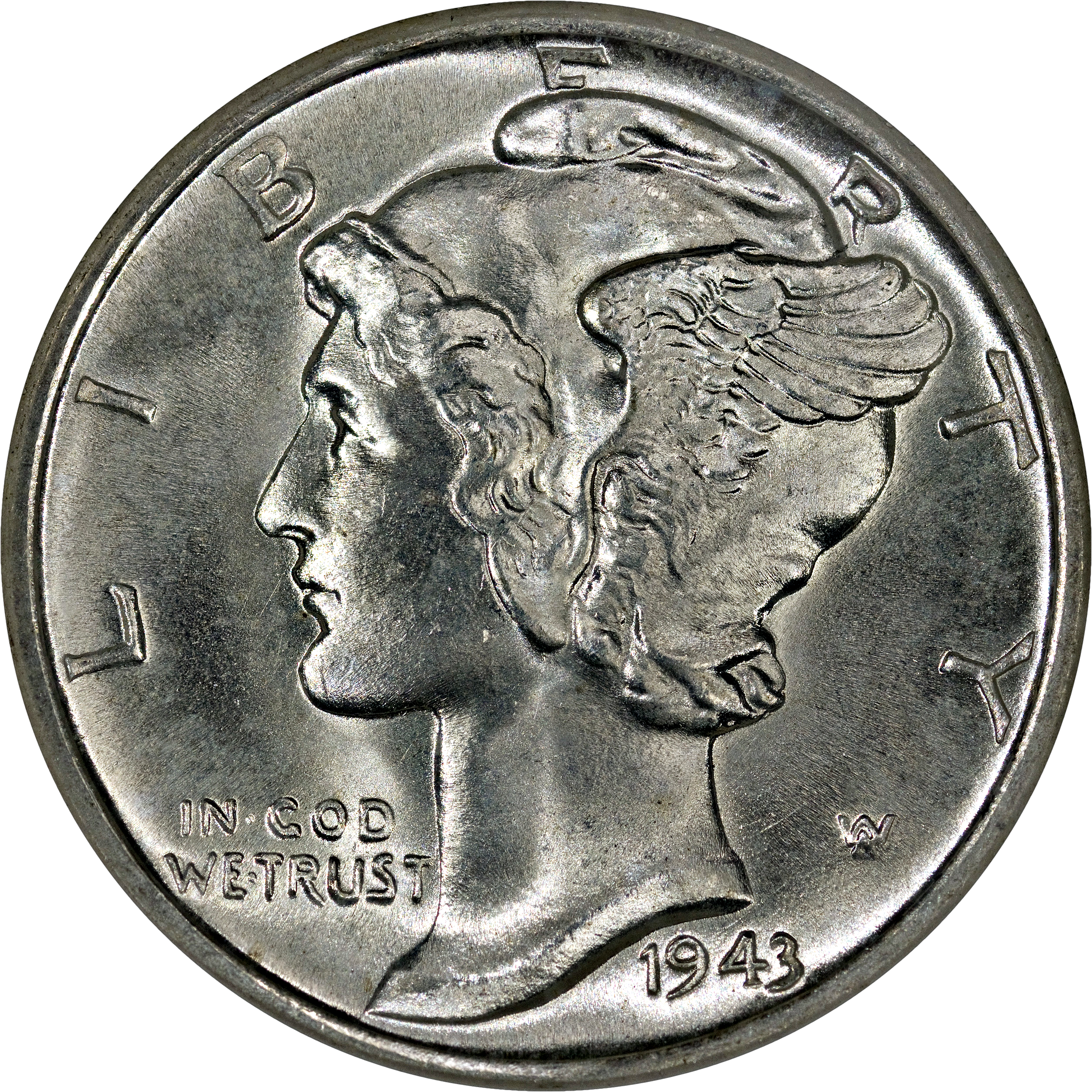 Average circulated 1917 P Mercury Dime circulated 90/% Silver  Good