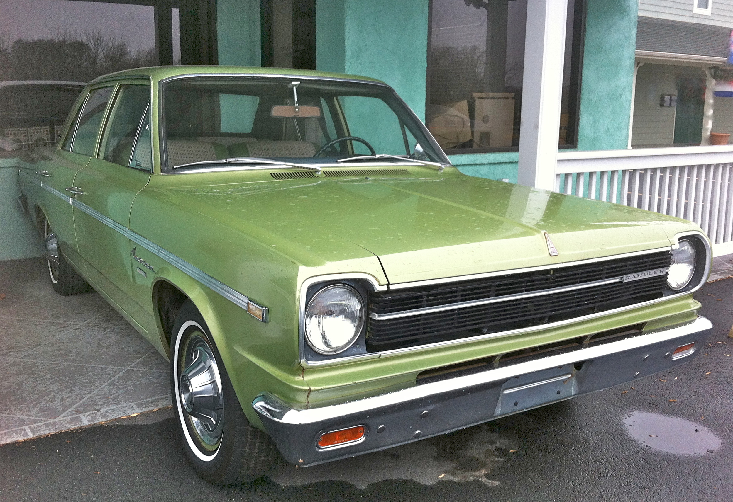 File1968 Rambler American 440 4 door sedan green