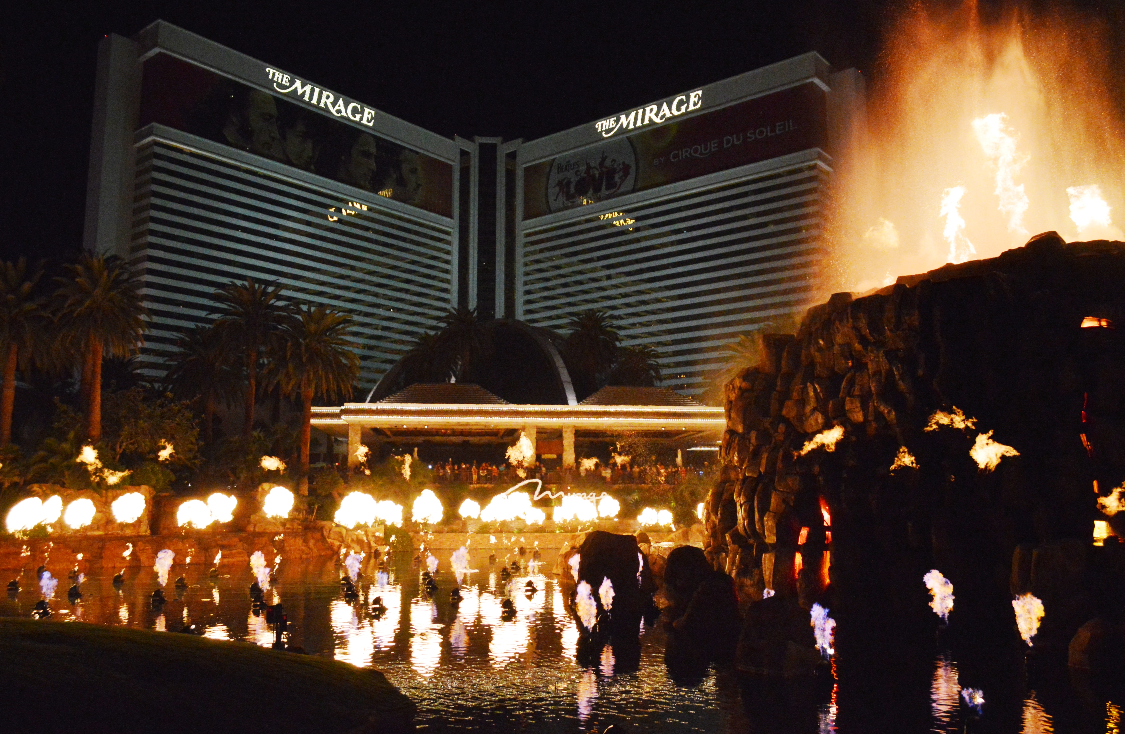 Image result for The Mirage Volcano