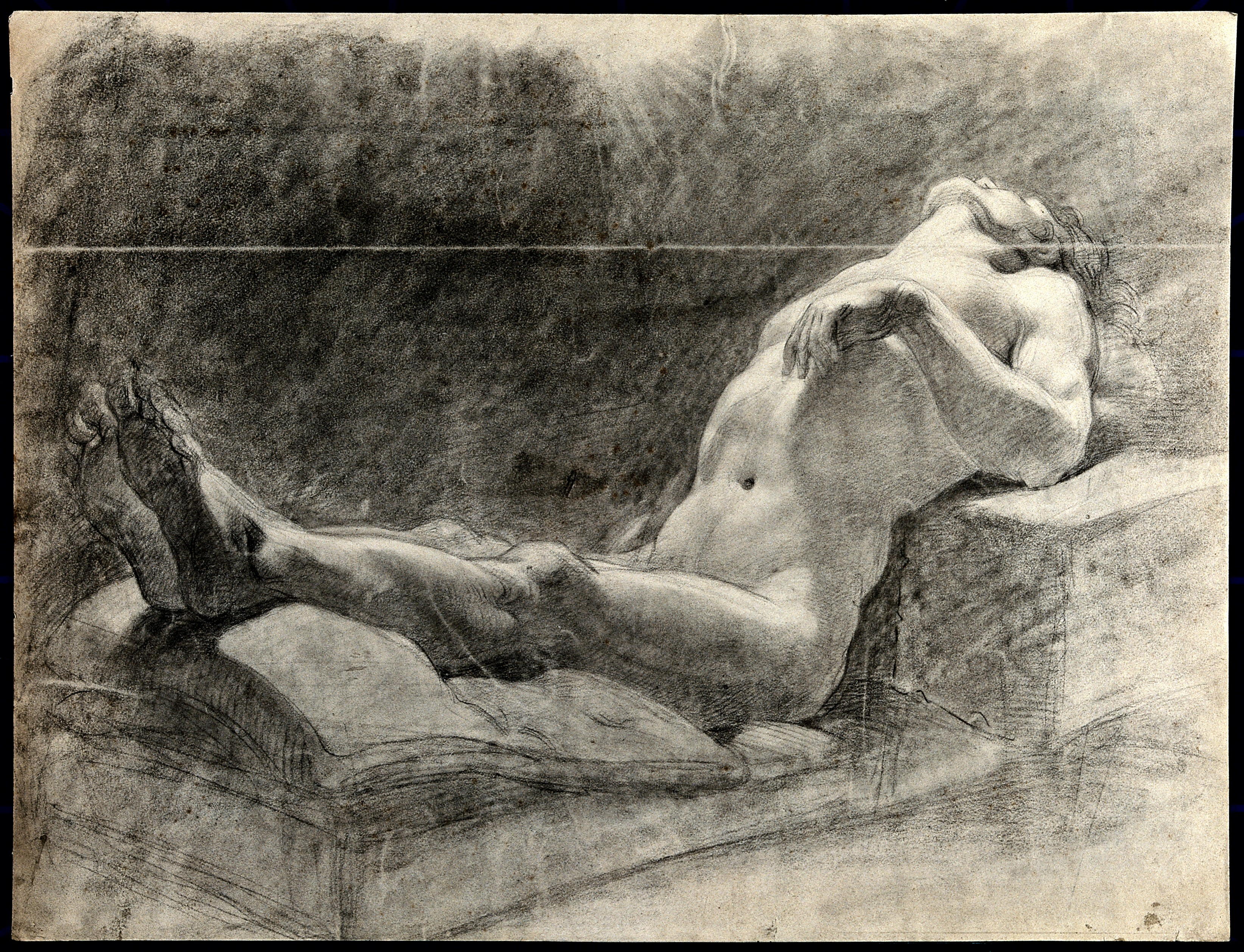 nude Reclining male