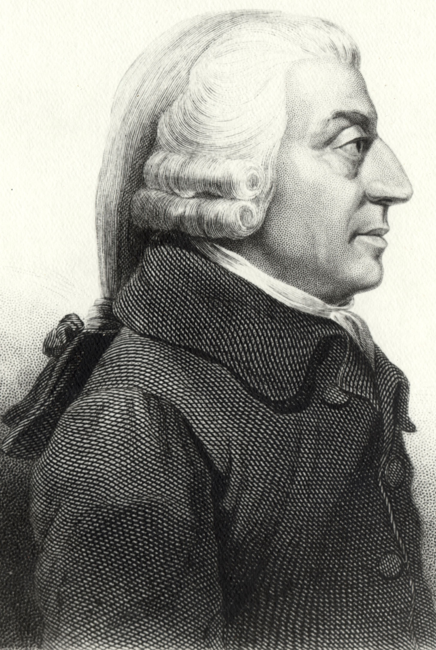 Profil de Adam Smith (1787).