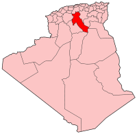 Map of Algeria showing Djelfa province