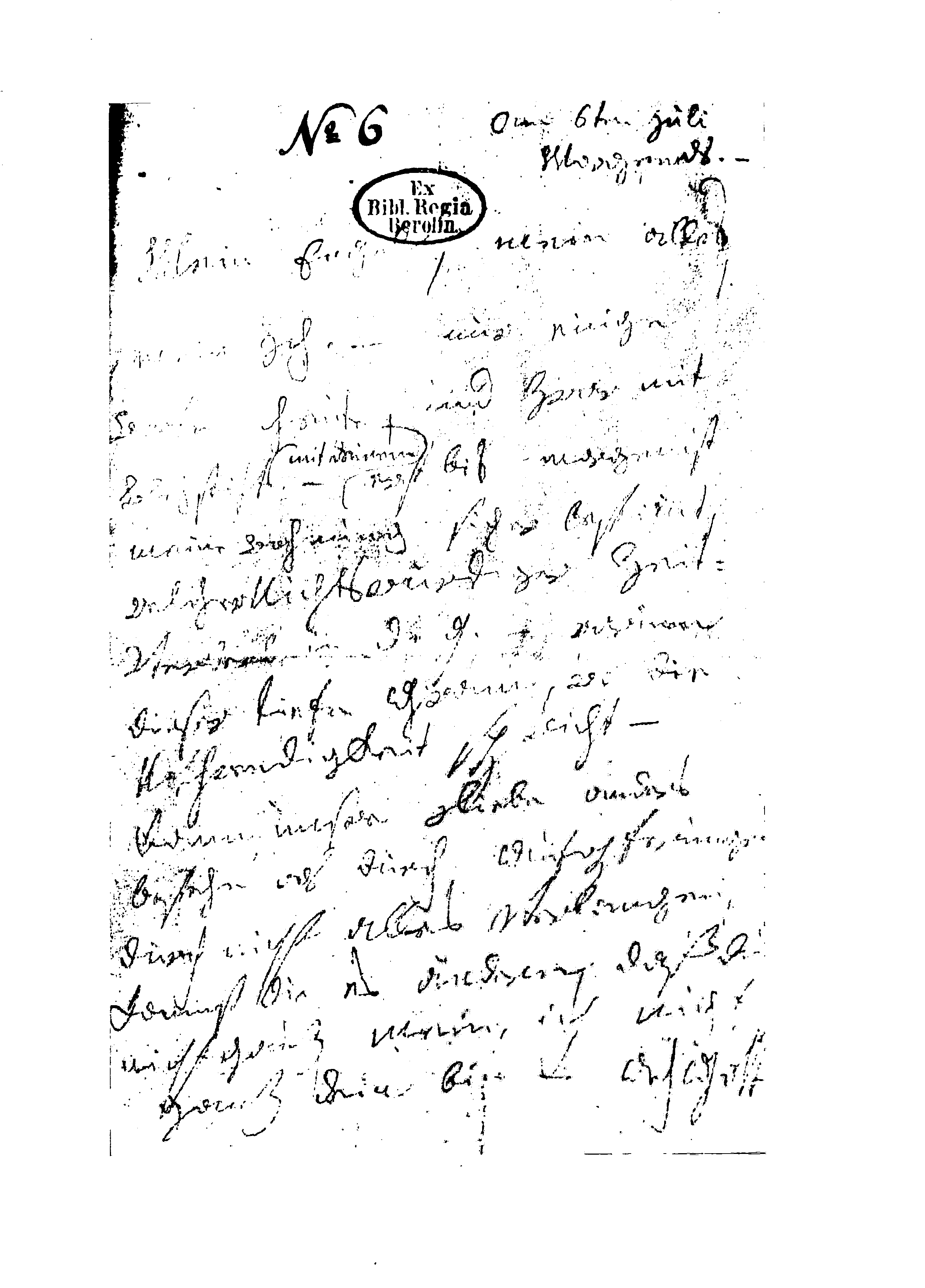 """Facsimile of the first page of the letter addressed to """"Immortal Beloved""""."""