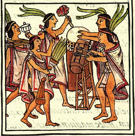 File:Aztec drums, Florentine Codex..jpg