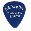 "Commemorative guitar pick honoring ""B.B. King Day"" in Portland, Maine"
