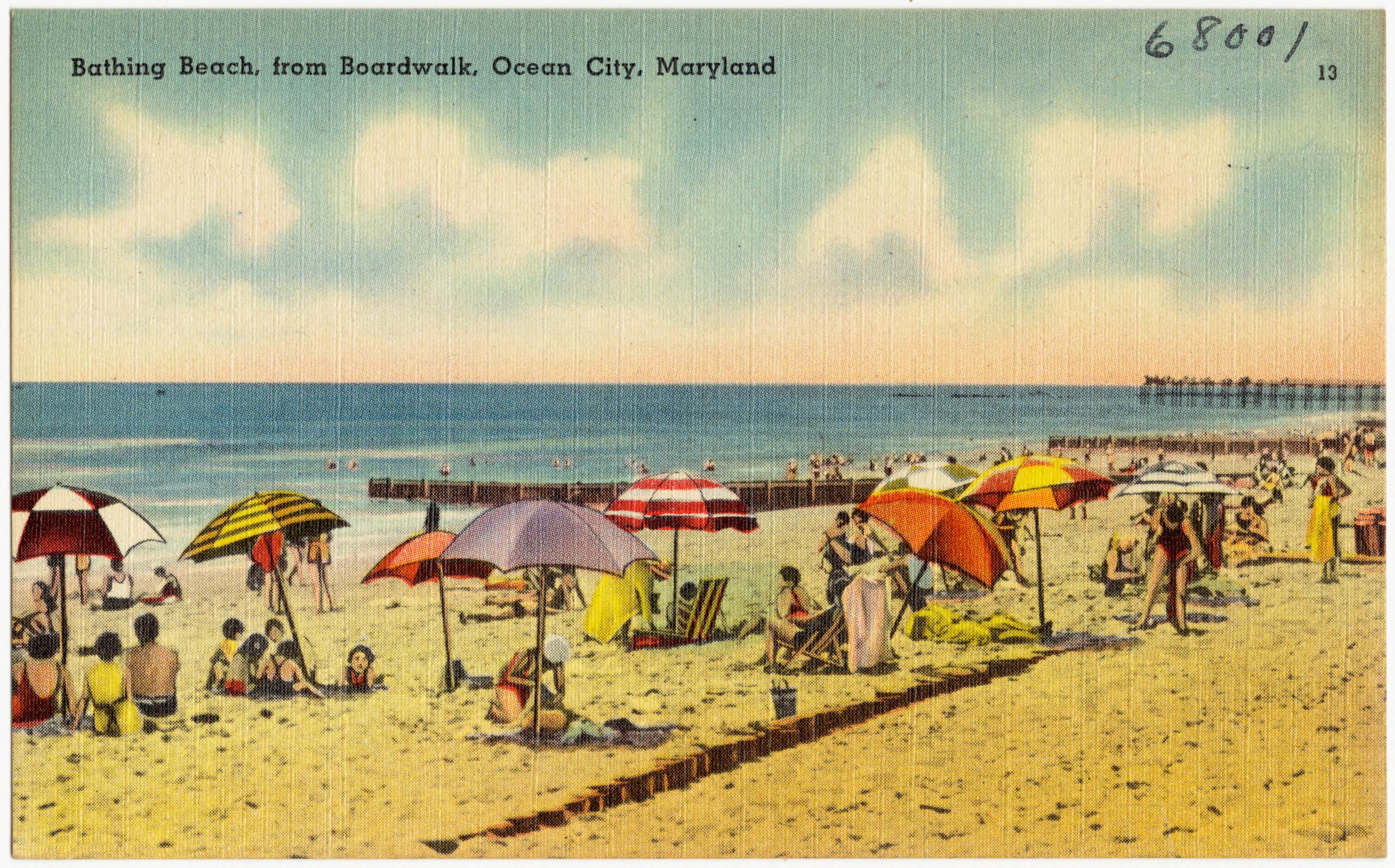 file bathing beach from boardwalk ocean city maryland 68001 jpg rh commons wikimedia org