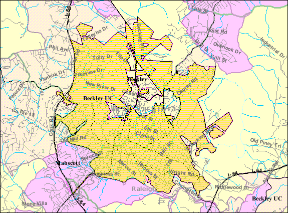 File:Beckley WV 2000 Census reference map.png