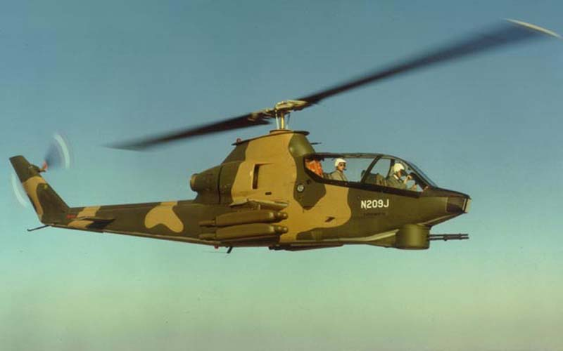 Bell AH-1 Cobra prototype flight
