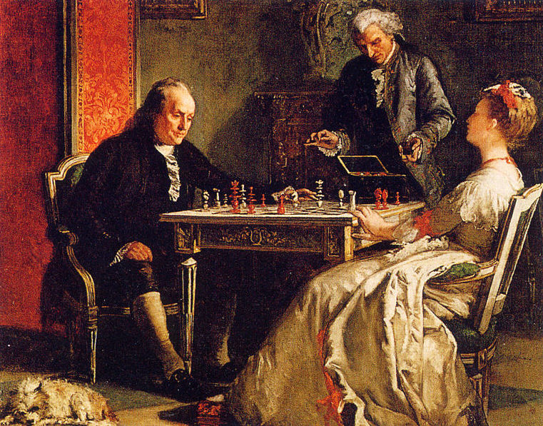 Ficheiro:Benjamin Franklin playing chess.jpg
