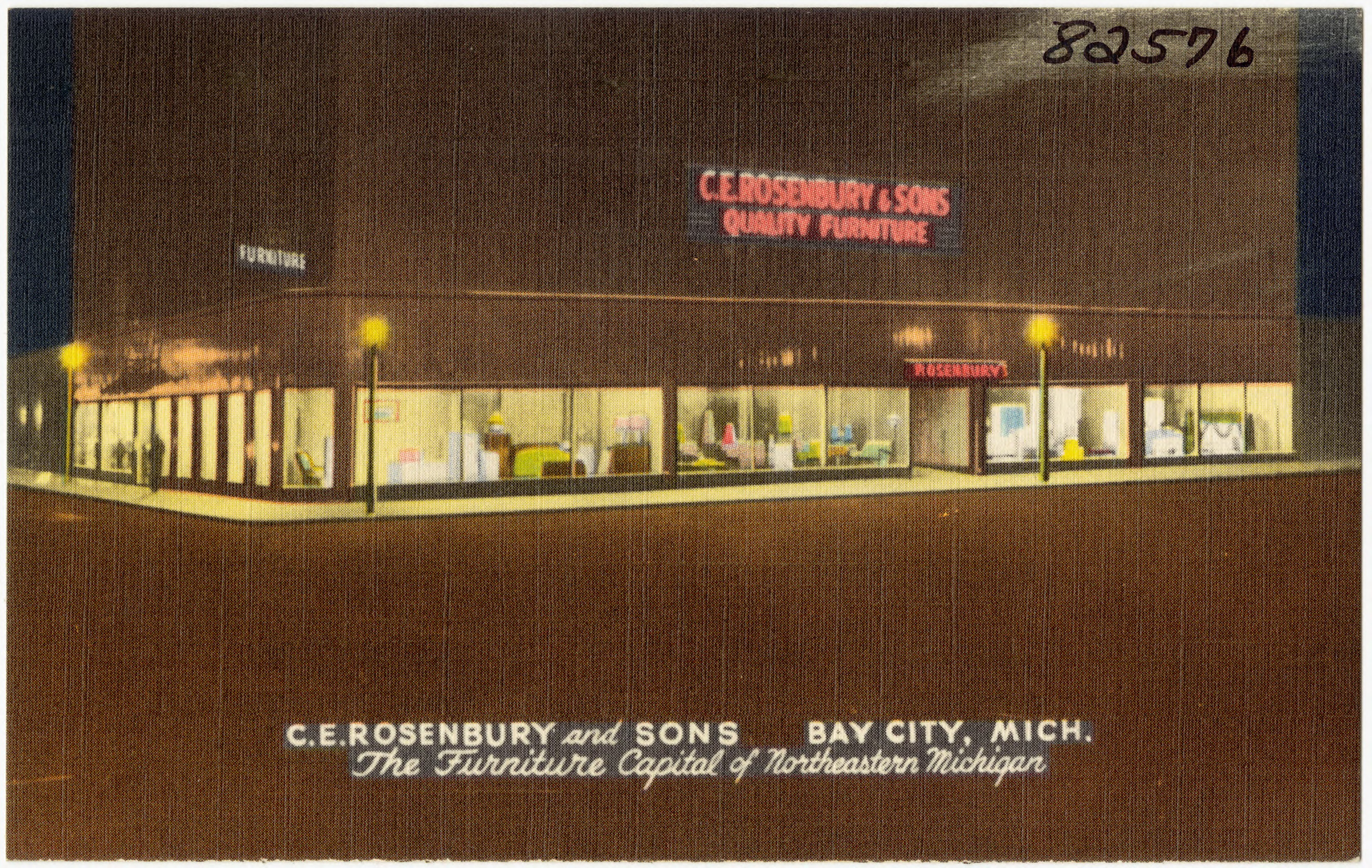 File:C. E. Rosenbury And Sons, Bay City, Mich. The Furniture Capital Of