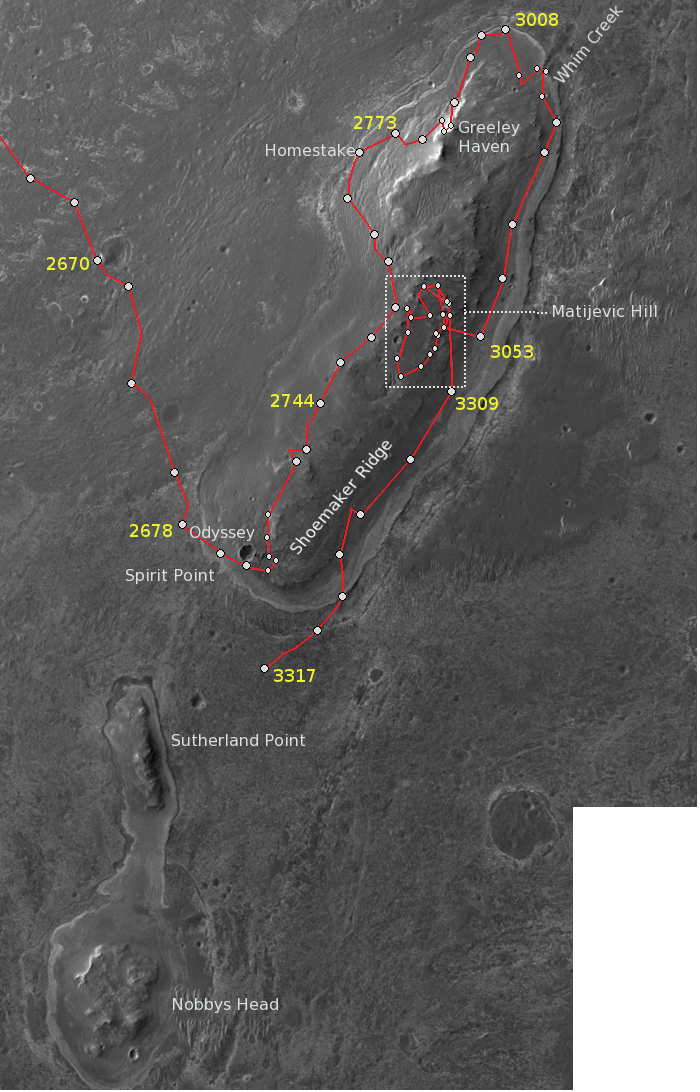 httpuploadwikimediaorgwikipediacommons00aCapeYork Map 2014png Today is day 4000 of Mars