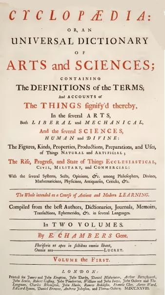 Chambers Cyclopaedia 1728