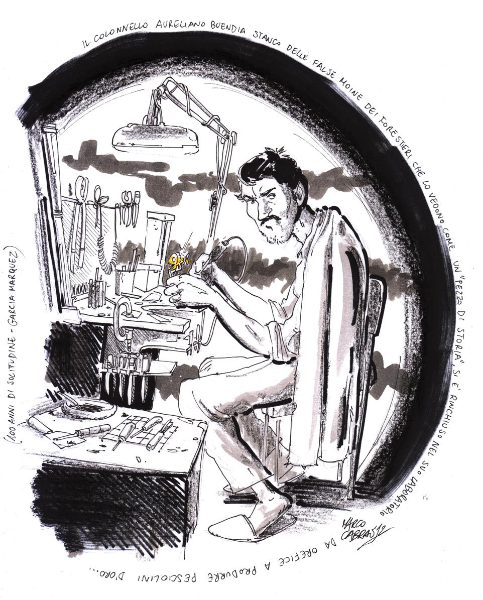 Col. Aureliano Buendía artist: Marco Cabras