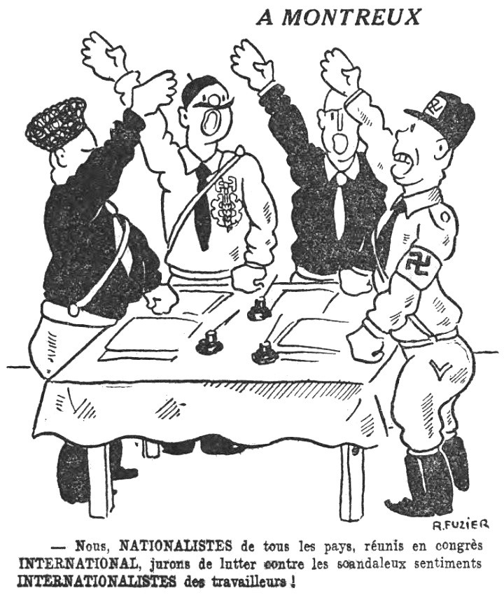 Congrès international fasciste de Montreux 1934 (caricature).jpg