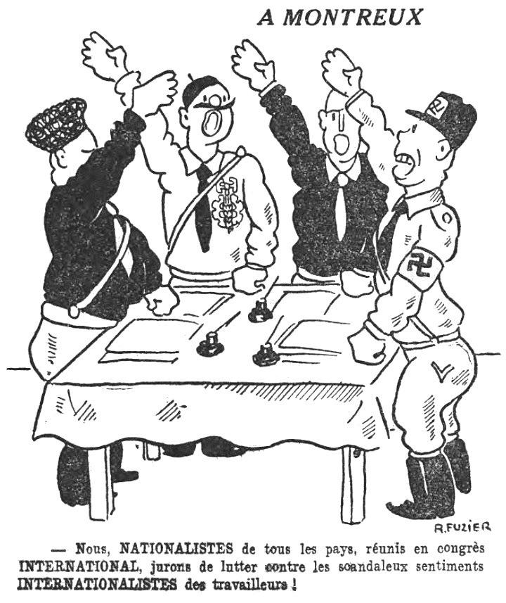 Congrès international fasciste de Montreux 1934 (caricature).jpg