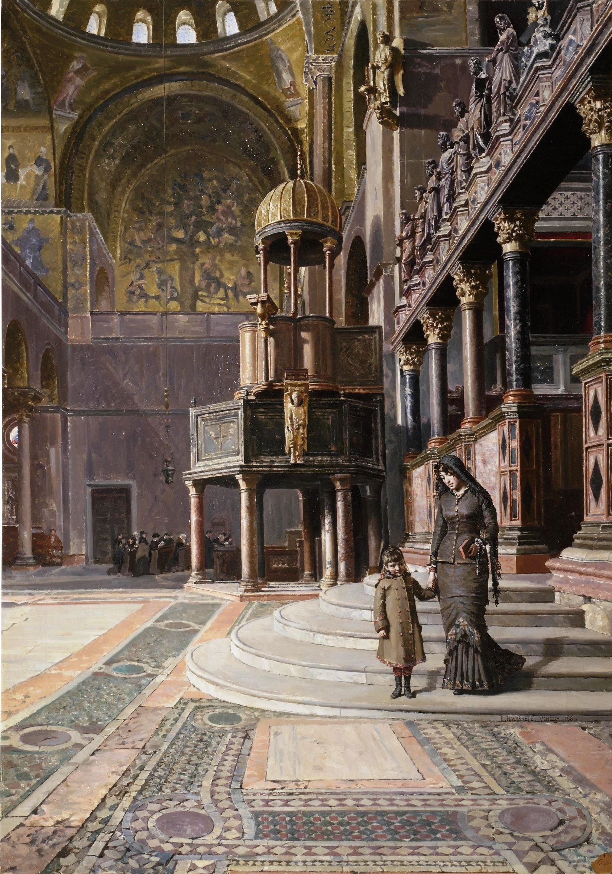 File:En la basílica de San Marcos de Venecia (Museo del Prado).jpg ...