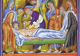 Anoiting of dead body of Christ by myrro befor...