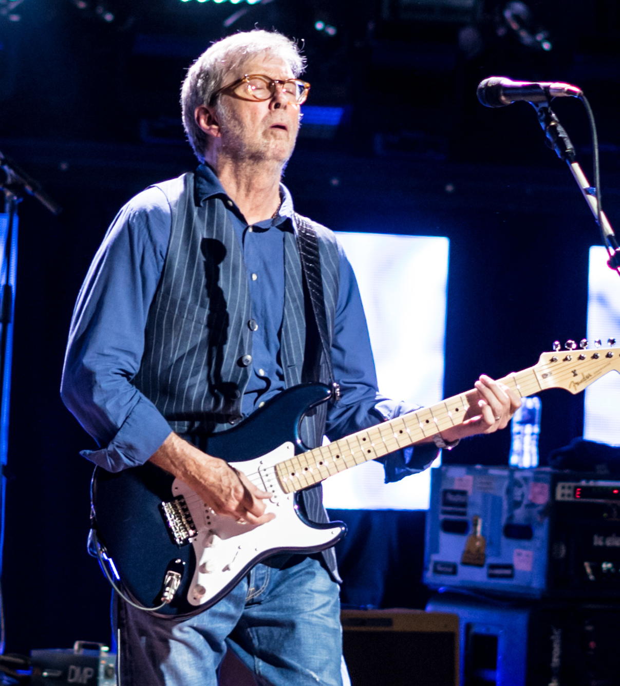 Clapton performing at the [[Royal Albert Hall]] in May 2017