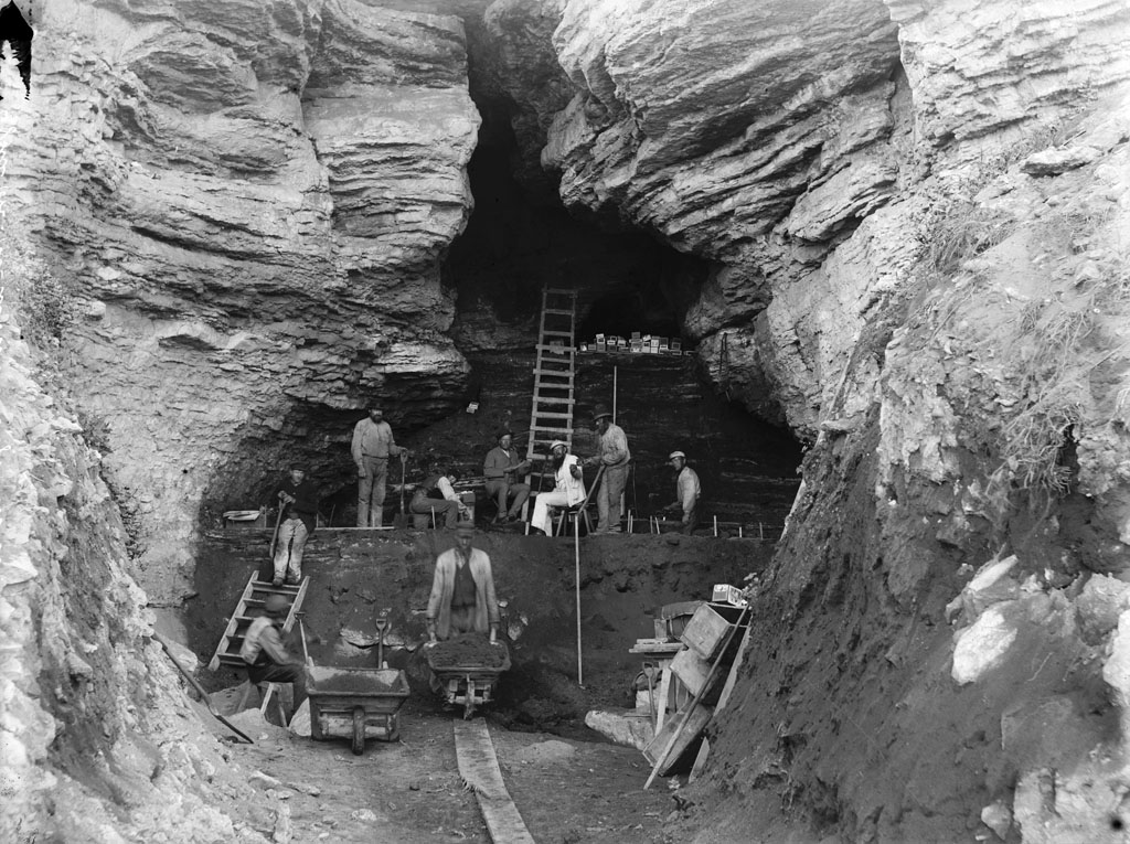 Excavation of a Stone Age Cave, Island of Gotland, 1891