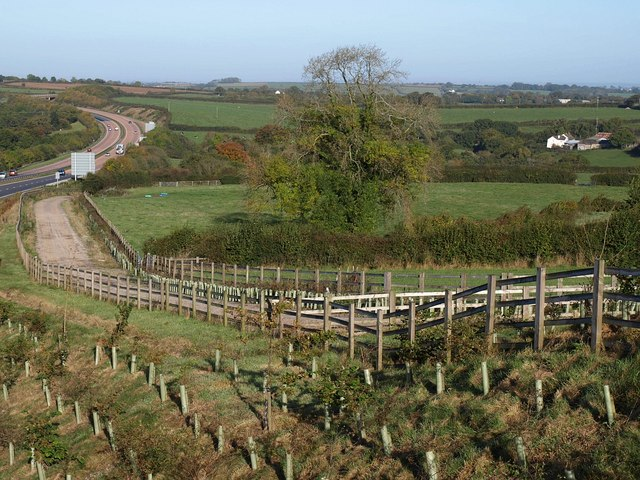 File:Farm road by the A30 - geograph.org.uk - 1549186.jpg