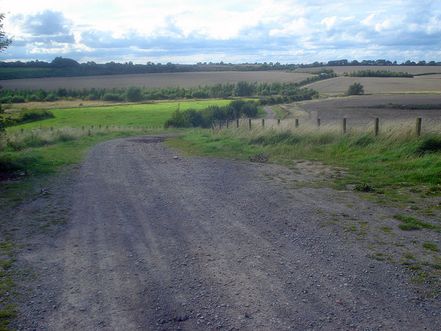 Farm track on the edge of Sence Valley Forest Park - geograph.org.uk - 1494963
