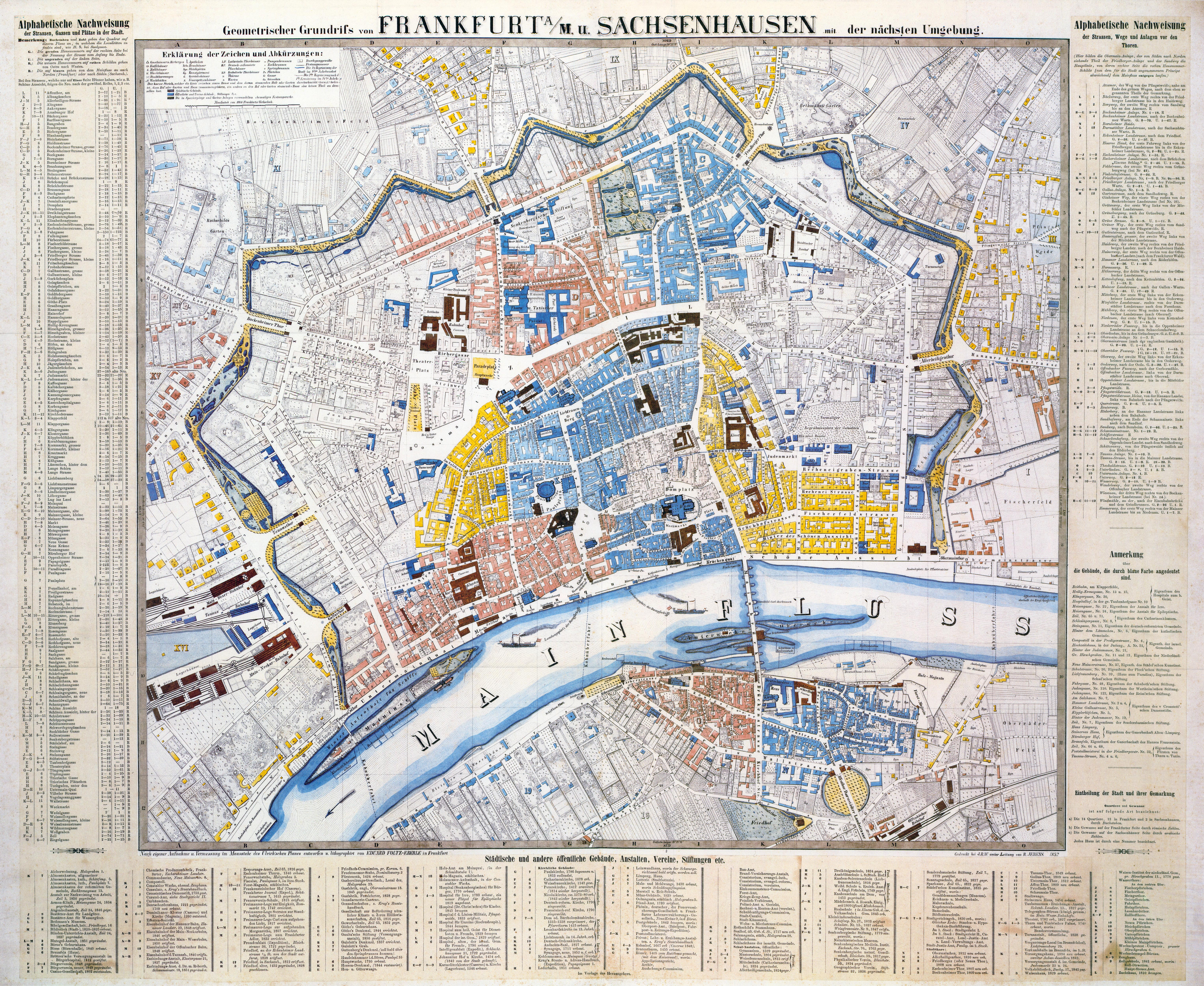 Datei Frankfurt Am Main Karte Foltz Eberle 1852 Jpg Wikipedia