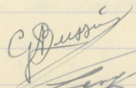 Gaston BUSSIERE Signature 1938-1939.png