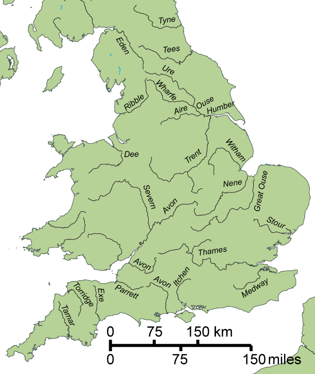 Printable Map Of Uk Rivers.File Gb4dot Rivers England Png Wikimedia Commons