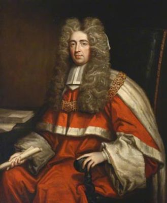 George Jeffreys, 1st Baron Jeffreys of Wem, better known as Judge Jeffrey, Old Saolpian George Lord Jeffreys LCJ by Godfrey Kneller.jpg