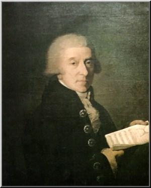 Portrait du compositeur italien Giuseppe Sarti...