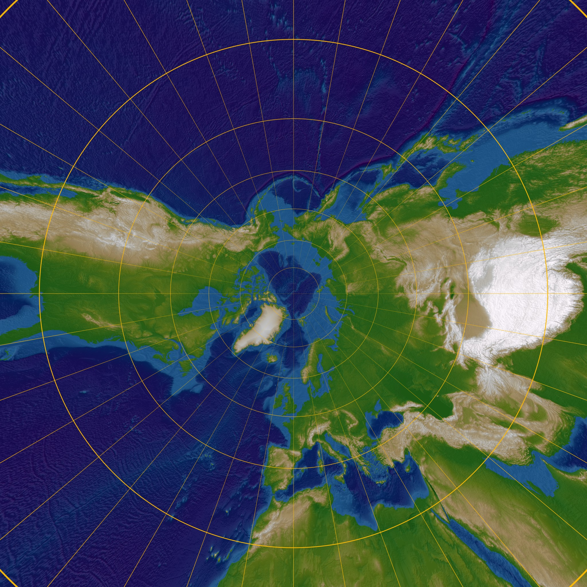 Gnomonic map projection Cartography An Overview Timeline