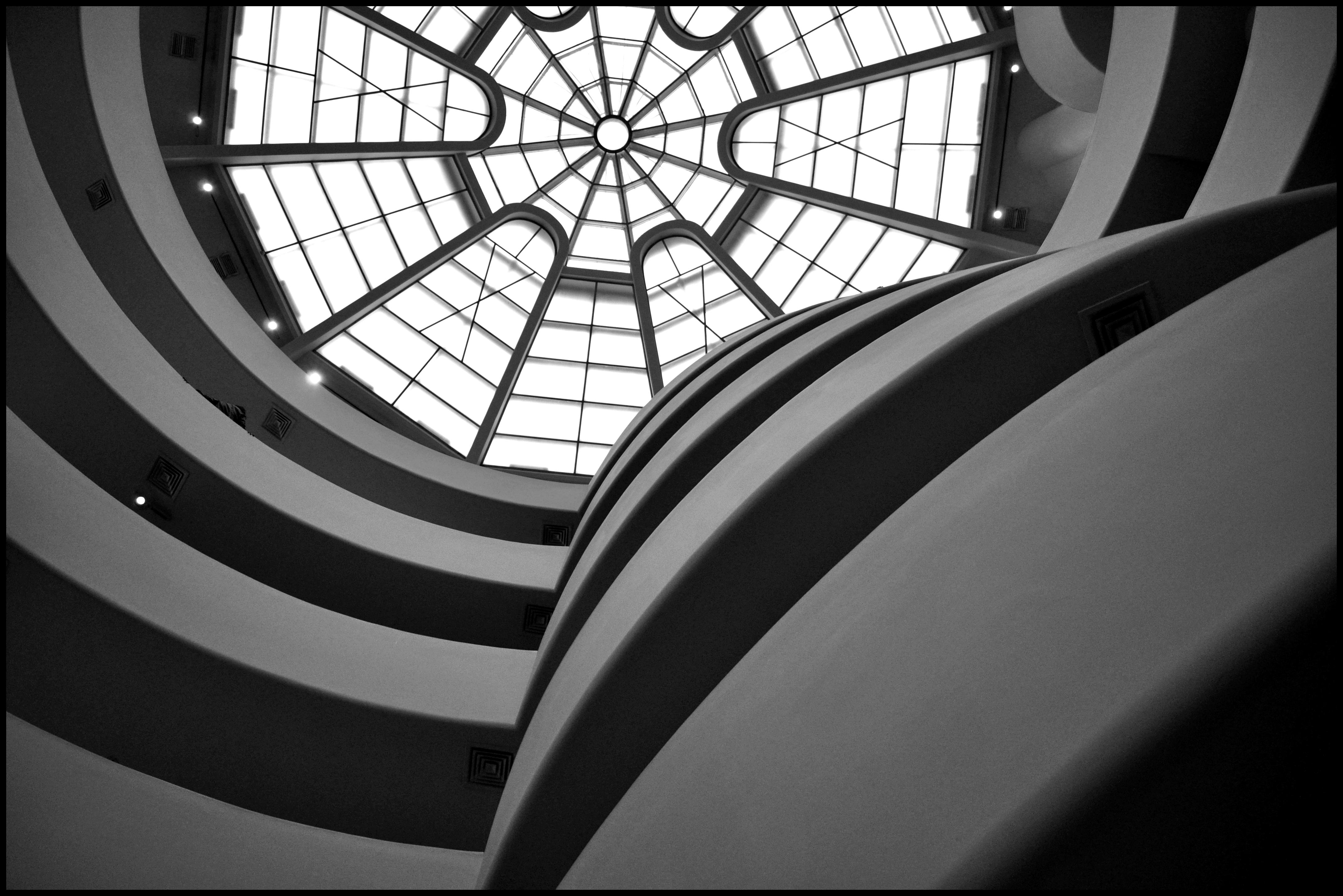 Guggenheim Museum interior looking up