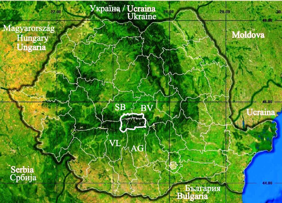 Fișier Harta Localizare Muntii Fagarasului Romania Jpg Wikipedia