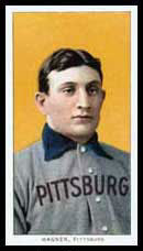 Honus Wagner baseball card circa 1910. See als...