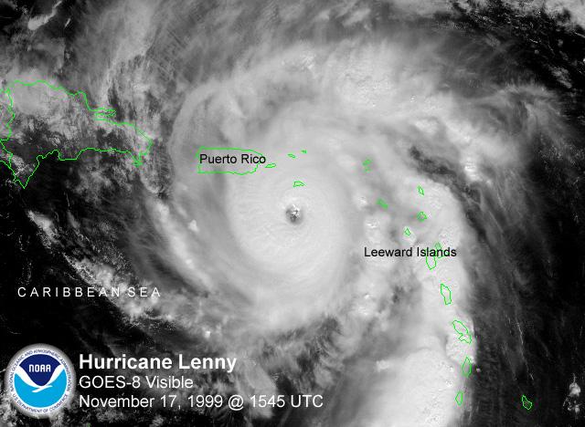 飓风莱尼 - 维基百科,自由的百科全书