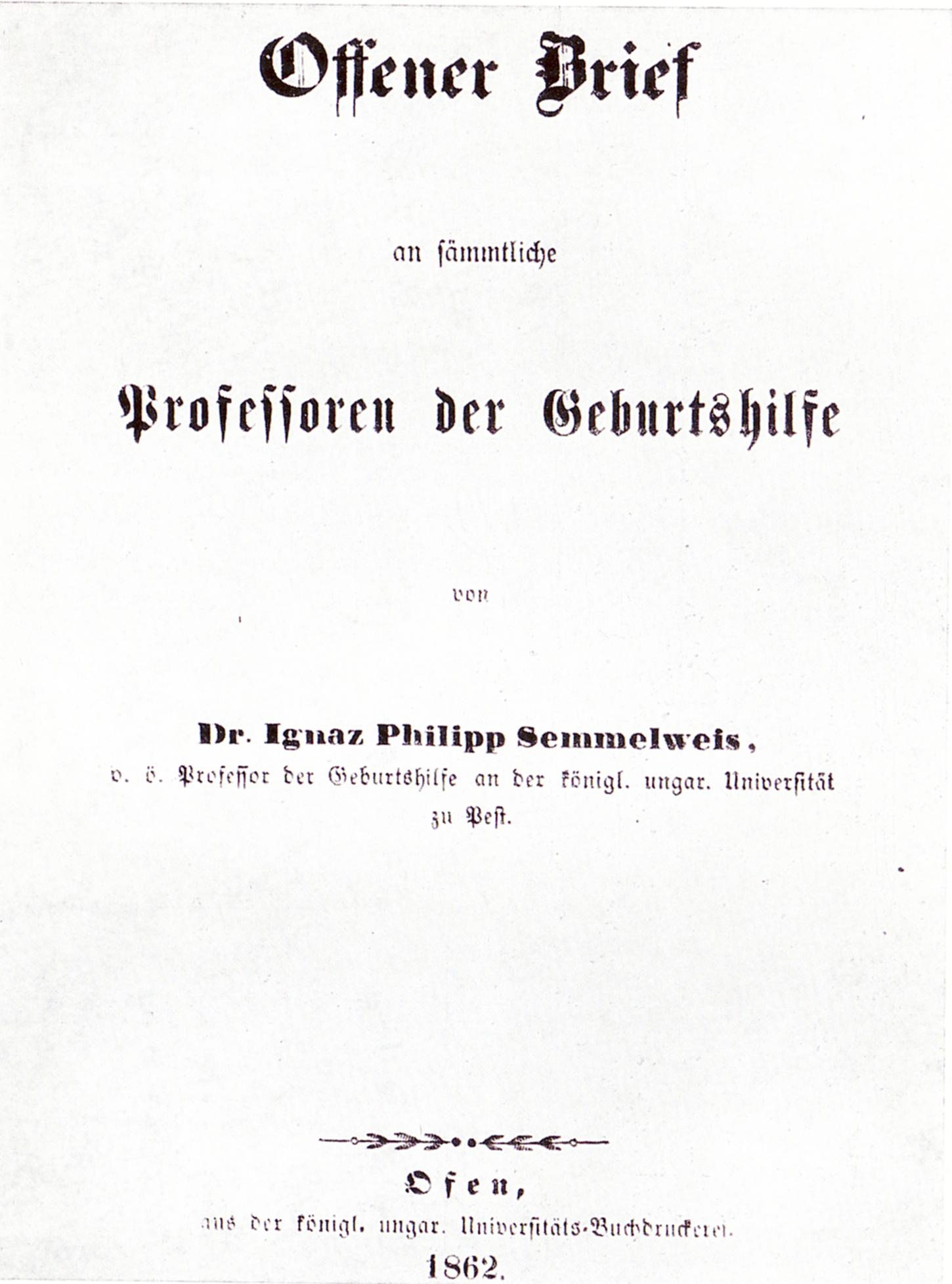 File:Ignaz Semmelweis 1862 Open Letter  Country Of Origin Letter