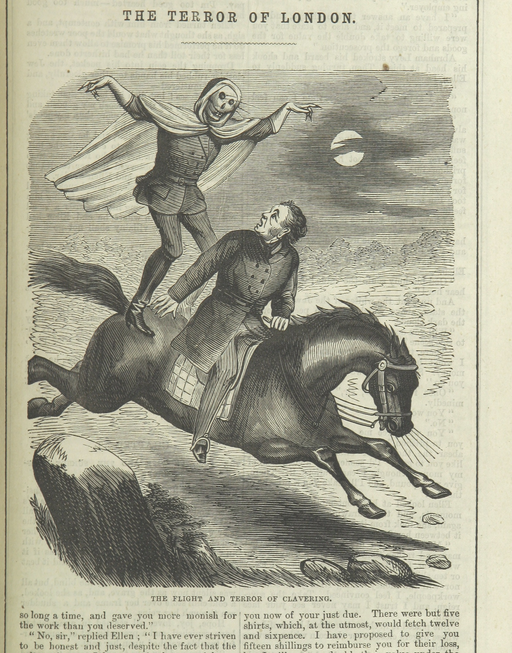 An image of Spring-heeled Jack, taken from a penny dreadful.
