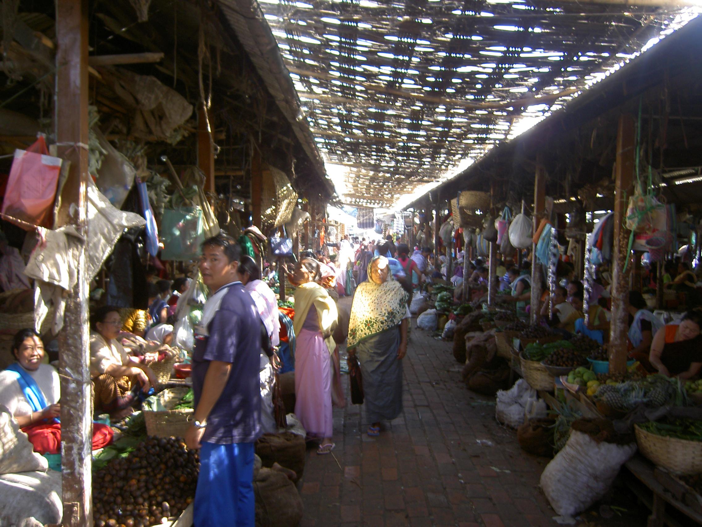Women's market or Ima Keithel in Imphal