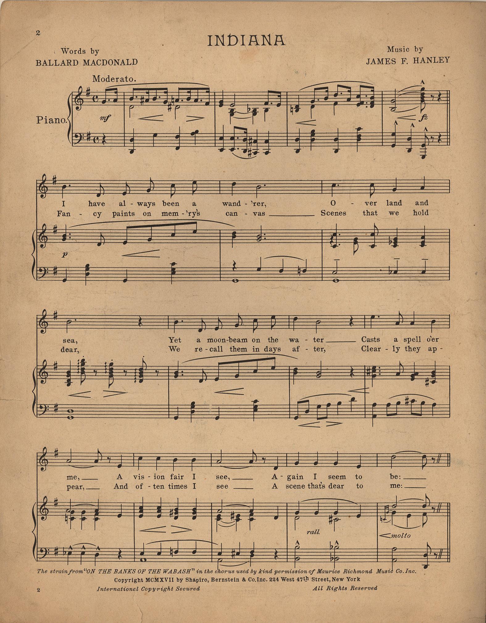 sheet music height