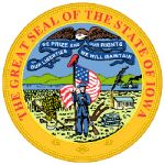 The Iowa state seal.