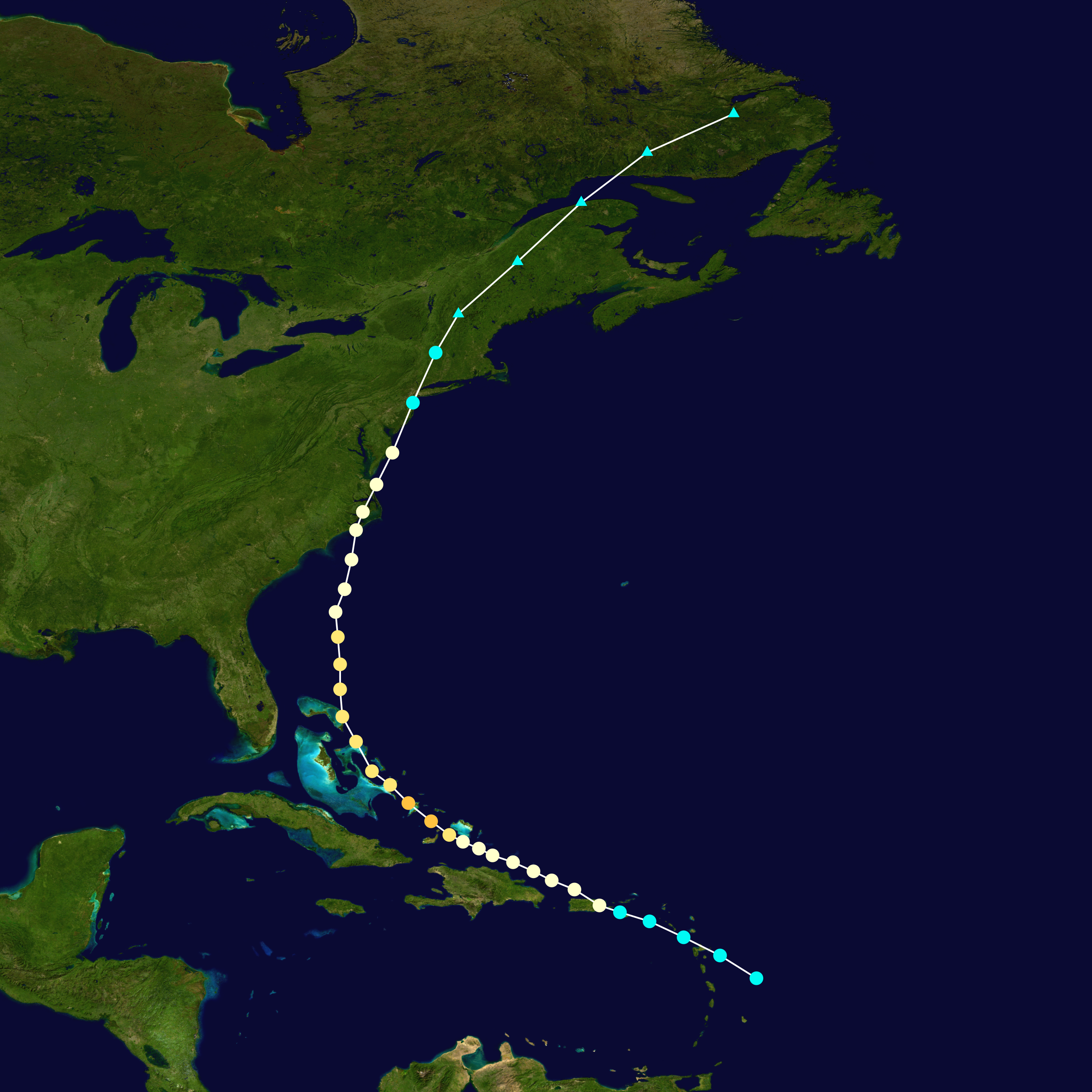 Orkanen irene nu kategori 3