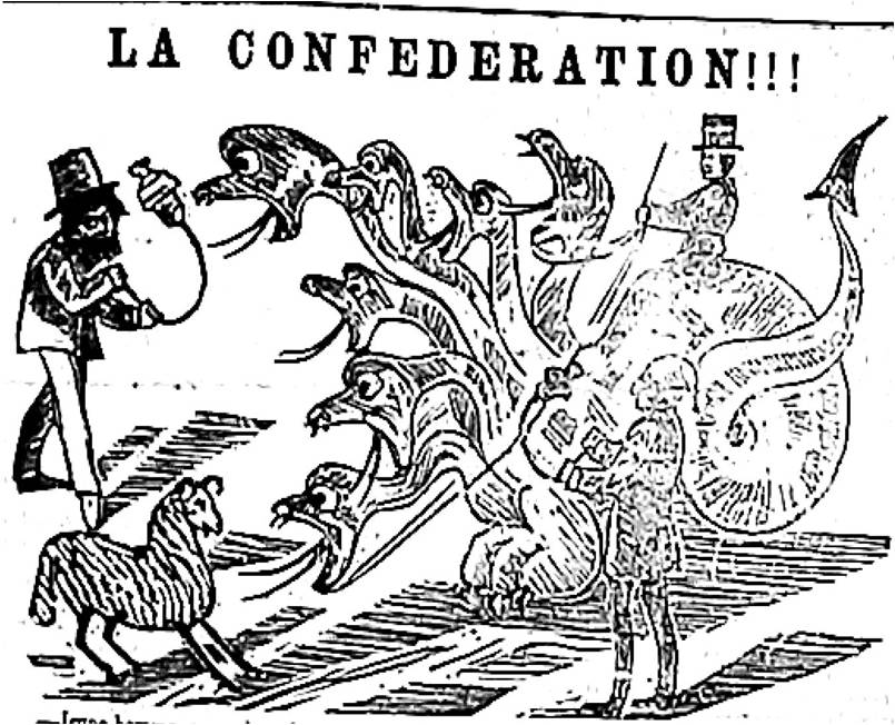 summary of canadian confederation Canadian confederation (french: confédération canadienne) was the process by which the british colonies of canada, nova scotia, and new brunswick were united into one dominion of canada on july 1, 1867.