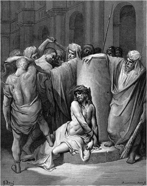 매질을 당하는 예수님 (귀스타브 도레, Gustave Dore, 1866년)