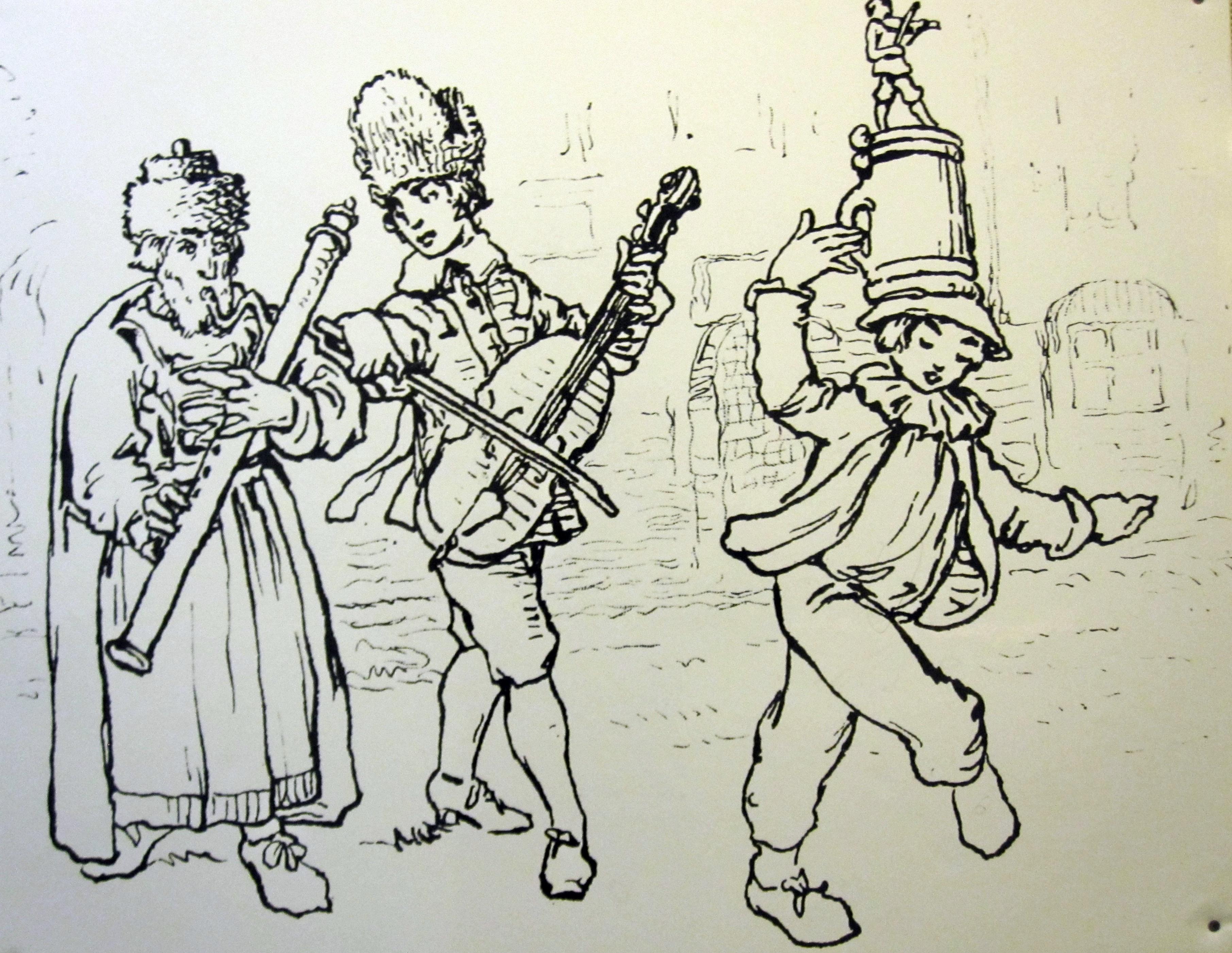 Músicos judíos, Praga, 1741.