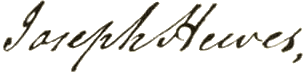 Joseph Hewes Signature